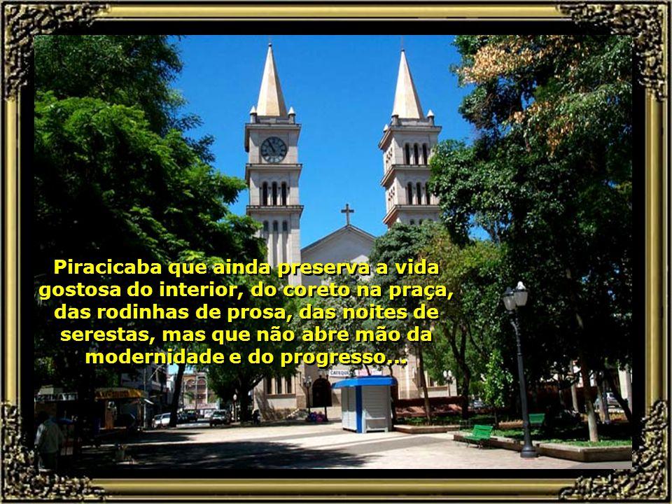 A bela Catedral de Santo Antônio, no centro da cidade, em estilo românico, tem capacidade para 1.000 pessoas...