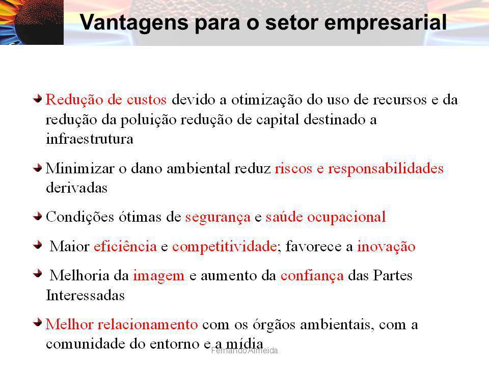 Vantagens para o setor empresarial Fernando Almeida