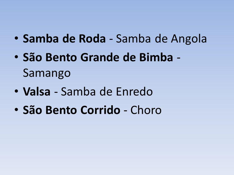 Samba de Roda - Samba de Angola São Bento Grande de Bimba - Samango Valsa - Samba de Enredo São Bento Corrido - Choro