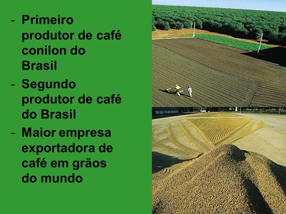 -Primeiro produtor de café conilon do Brasil -Segundo produtor de café do Brasil -Maior empresa exportadora de café em grãos do mundo