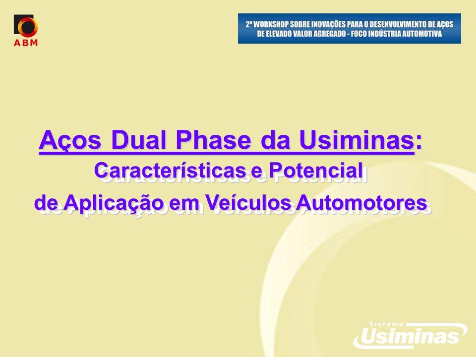 Aços Dual Phase da Usiminas: Características e Potencial de Aplicação em Veículos Automotores Características e Potencial de Aplicação em Veículos Automotores