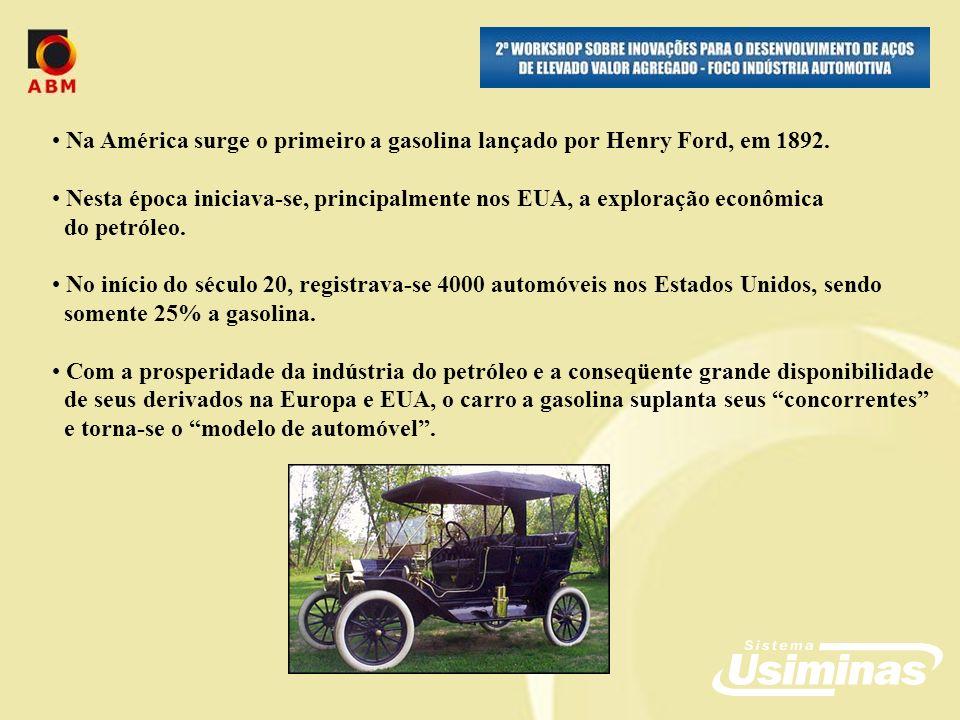 Alberto Santos Dumont pode ser considerado o precursor de nossa indústria automobilística pois importou o primeiro carro com motor a explosão (Peugeot), em novembro de 1891 Antes, Francisco Antonio Pereira Rocha, um baiano de Salvador (1871), tinha importado um carro a vapor Em 1897 Santos Dumont montou o primeiro carro brasileiro (gasolina/triciclo) No Brasil