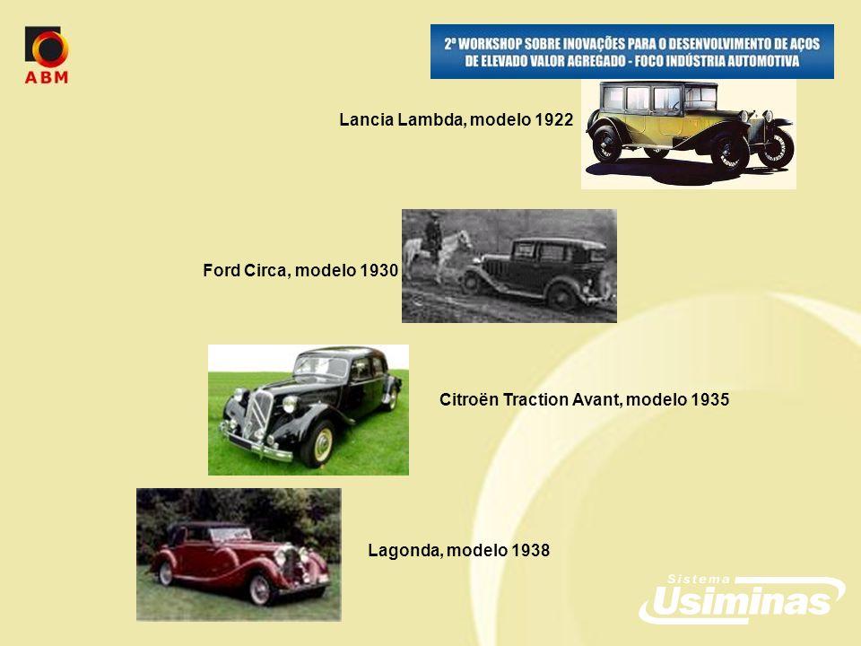 Lagonda, modelo 1938 Ford Circa, modelo 1930 Lancia Lambda, modelo 1922 Citroën Traction Avant, modelo 1935