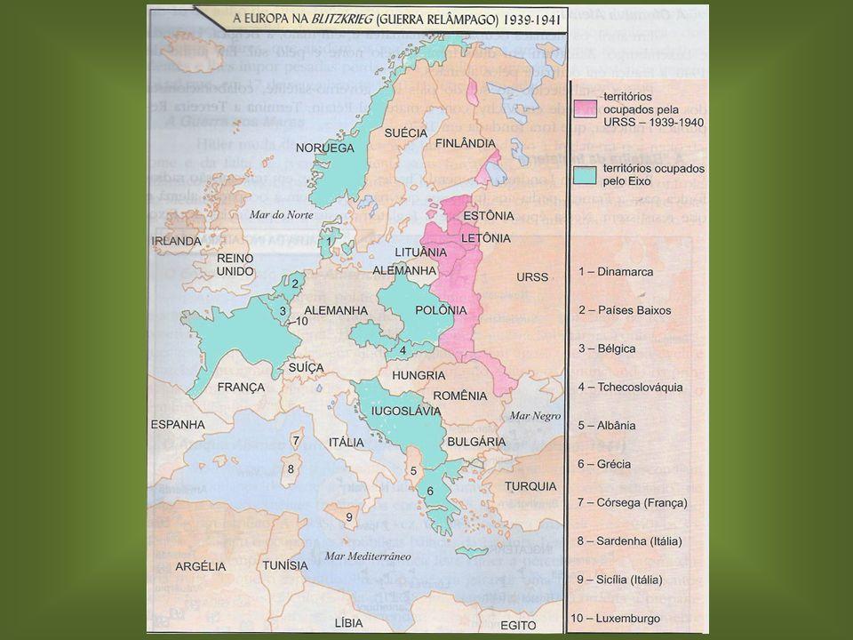 Características: Características: – Iniciativas ao lado dos países do Eixo. Início da Guerra – 1º de setembro de 1939: Início da Guerra – 1º de setemb