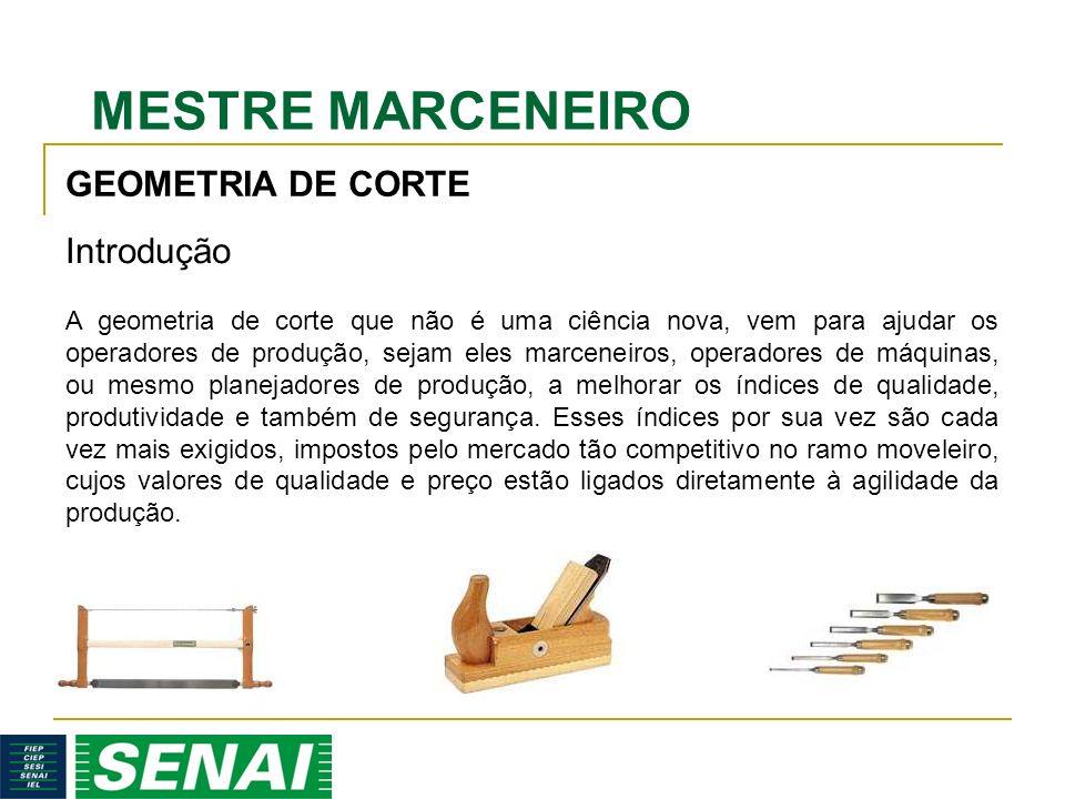 MESTRE MARCENEIRO GEOMETRIA DE CORTE A geometria de corte que não é uma ciência nova, vem para ajudar os operadores de produção, sejam eles marceneiro