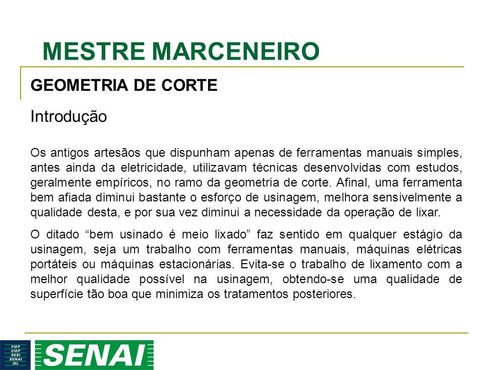 MESTRE MARCENEIRO GEOMETRIA DE CORTE Os antigos artesãos que dispunham apenas de ferramentas manuais simples, antes ainda da eletricidade, utilizavam