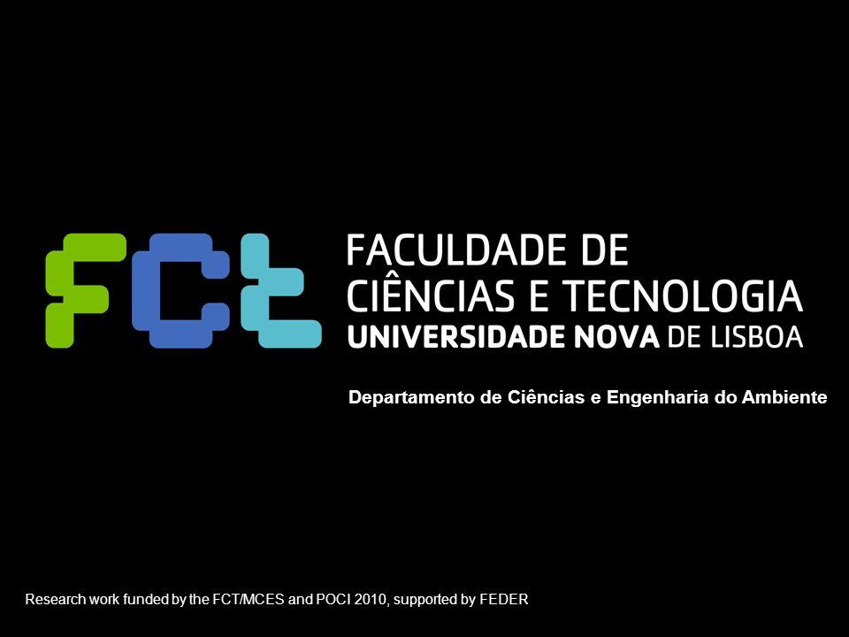 Seminário Protocolo de Quioto – Desafios de Gestão | Seixal | 14 Novembro 2007 Departamento de Ciências e Engenharia do Ambiente Research work funded