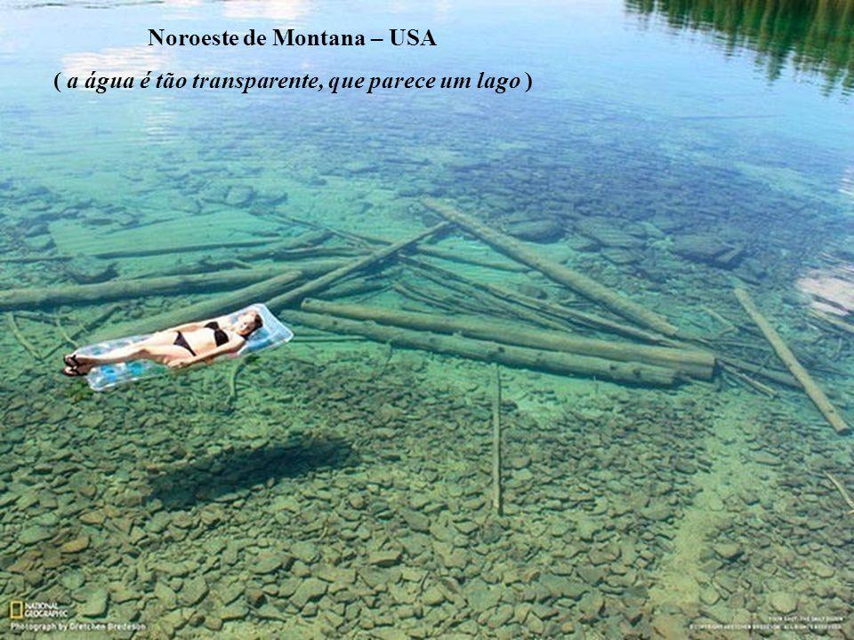 Noroeste de Montana – USA ( a água é tão transparente, que parece um lago )