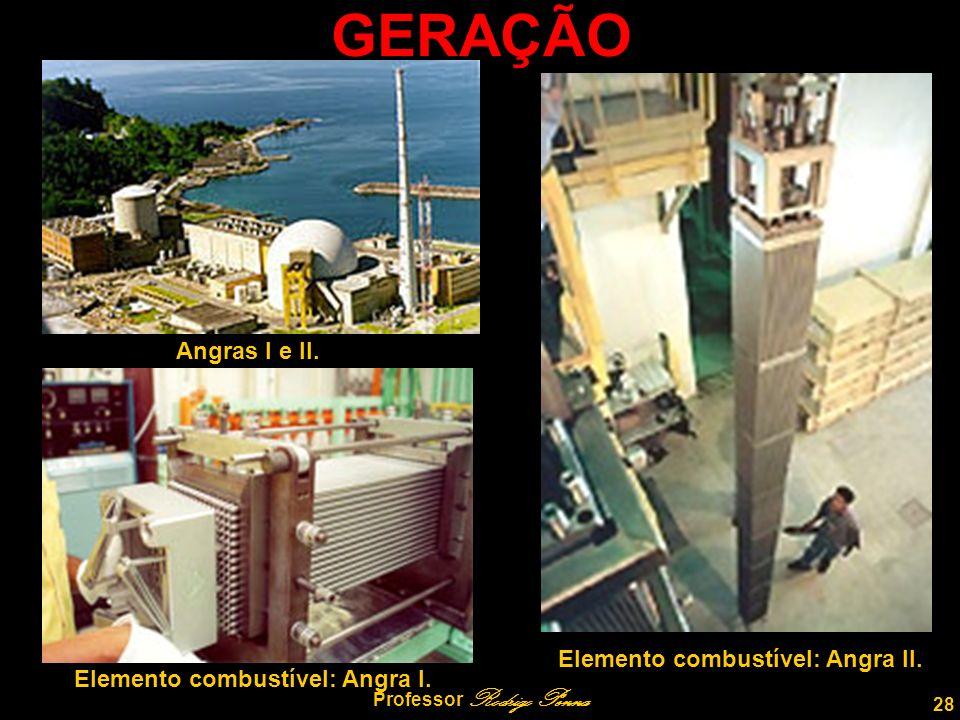 28 Professor Rodrigo Penna GERAÇÃO Angras I e II.Elemento combustível: Angra I.