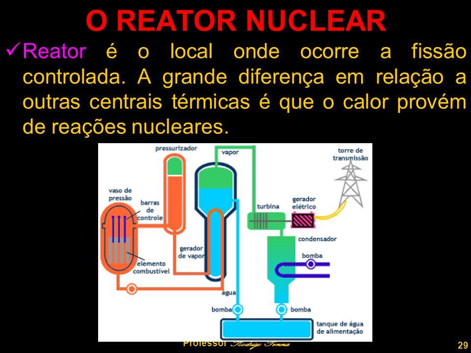 29 Professor Rodrigo Penna O REATOR NUCLEAR Reator é o local onde ocorre a fissão controlada.
