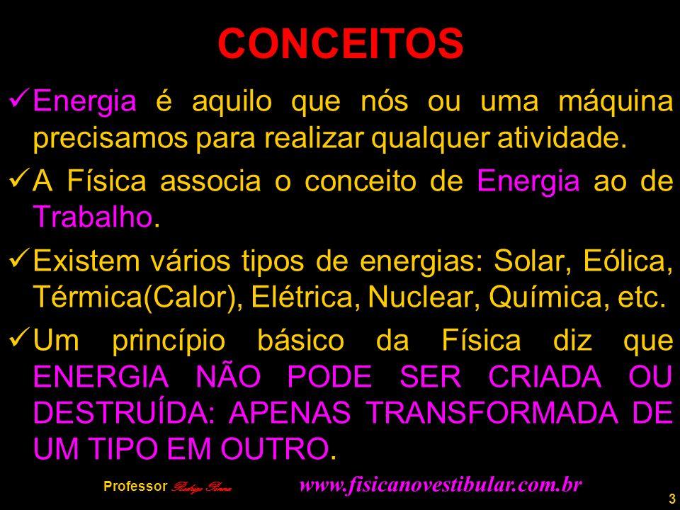 3 CONCEITOS Energia é aquilo que nós ou uma máquina precisamos para realizar qualquer atividade.