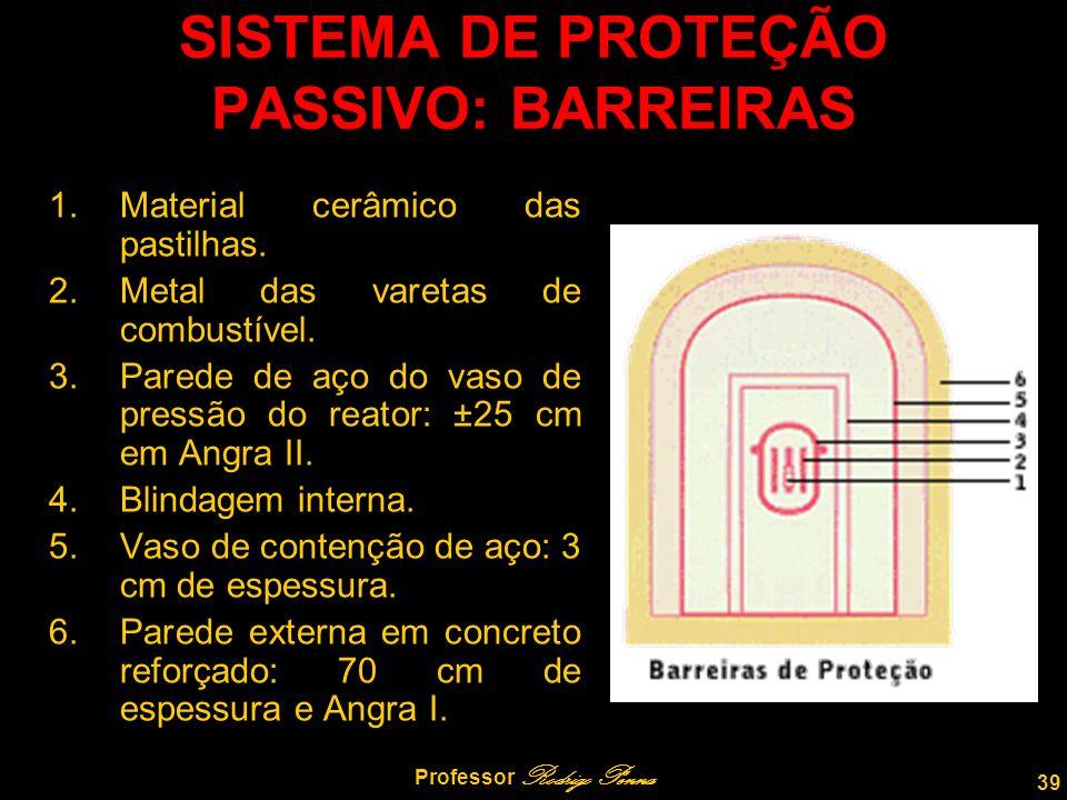 39 Professor Rodrigo Penna SISTEMA DE PROTEÇÃO PASSIVO: BARREIRAS 1.Material cerâmico das pastilhas.