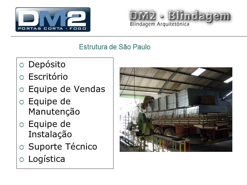 Depósito Escritório Equipe de Vendas Equipe de Manutenção Equipe de Instalação Suporte Técnico Logística Estrutura de São Paulo