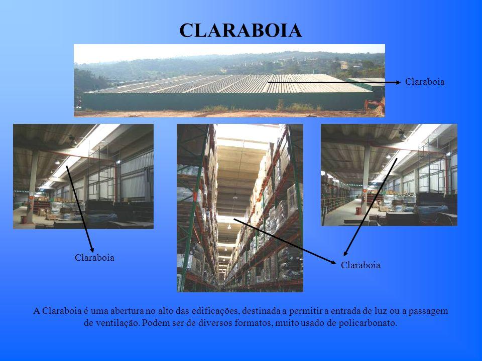CLARABOIA Claraboia A Claraboia é uma abertura no alto das edificações, destinada a permitir a entrada de luz ou a passagem de ventilação. Podem ser d