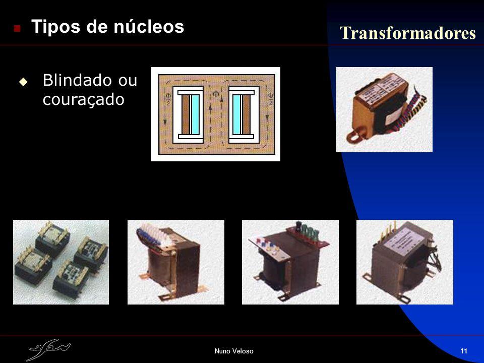 Nuno Veloso11 Transformadores Tipos de núcleos Blindado ou couraçado