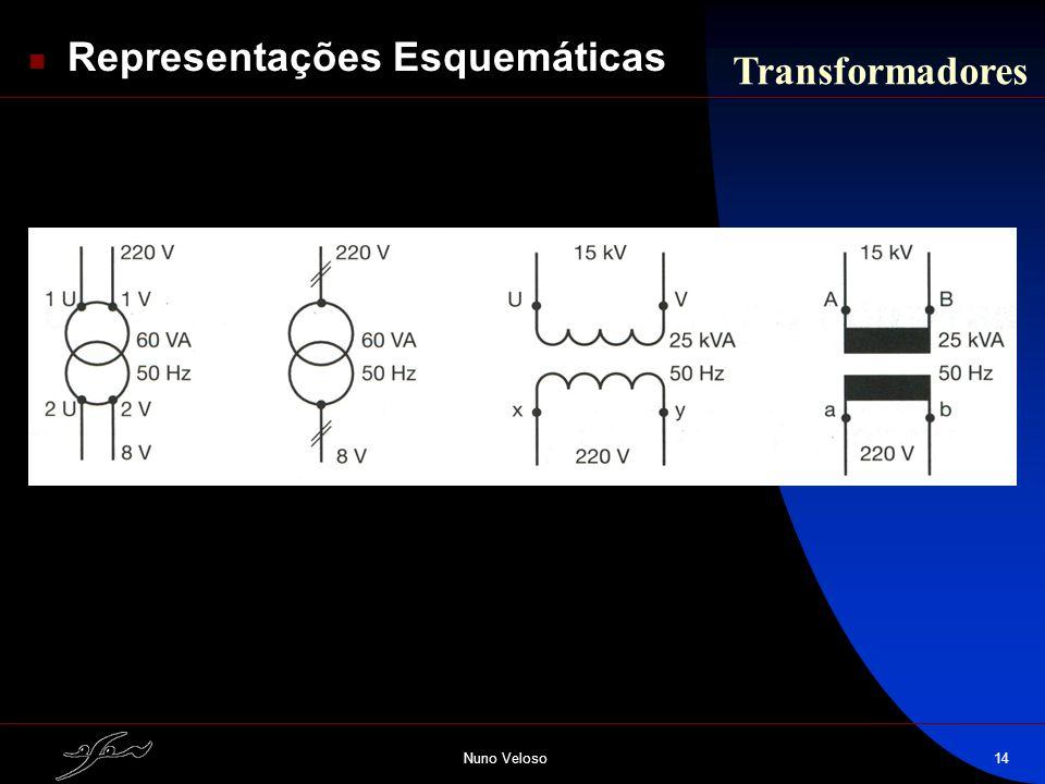 Nuno Veloso14 Representações Esquemáticas Transformadores