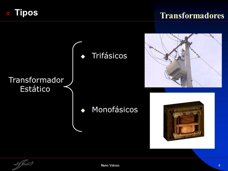 Nuno Veloso4 Tipos Trifásicos Monofásicos Transformador Estático Transformadores