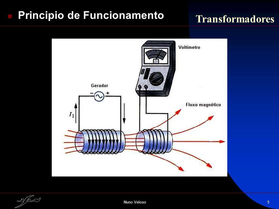 Nuno Veloso5 Principio de Funcionamento Transformadores