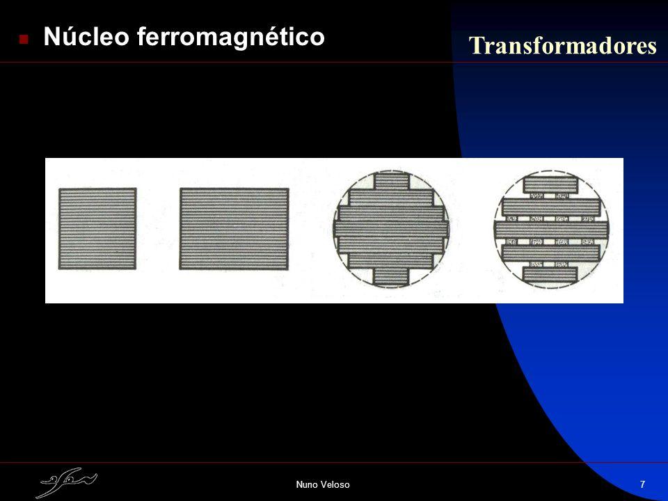 Nuno Veloso7 Transformadores Núcleo ferromagnético