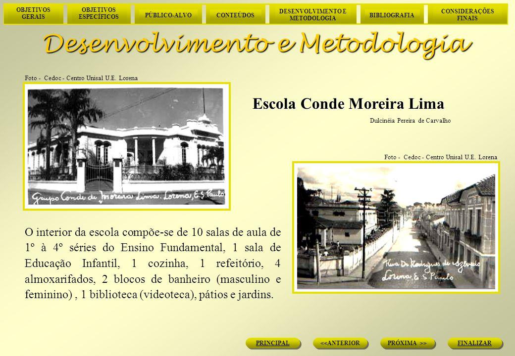 OBJETIVOS GERAIS OBJETIVOS ESPECÍFICOS PÚBLICO-ALVOCONTEÚDOS DESENVOLVIMENTO E METODOLOGIA BIBLIOGRAFIA CONSIDERAÇÕES FINAIS FINALIZAR PRÓXIMA >> <<ANTERIOR PRINCIPAL Desenvolvimento e Metodologia A escola foi municipalizada no mês de abril de 2001, mantendo o ensino de 1º à 4º séries.
