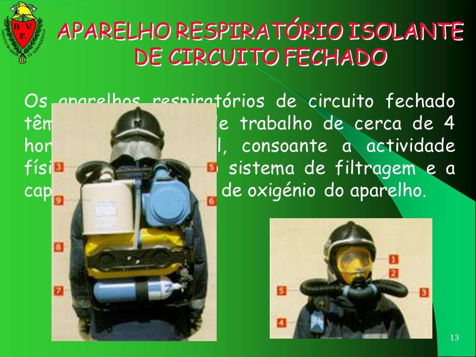 12 APARELHO RESPIRATÓRIO ISOLANTE DE CIRCUITO FECHADO PEÇA FACIAL TUBO DE EXPIRAÇÃO CARTUCHOREGENERADOR (FLOCOS DE HIDRÓXIDO DE SÓDIO) SÓDIO)CARTUCHOR