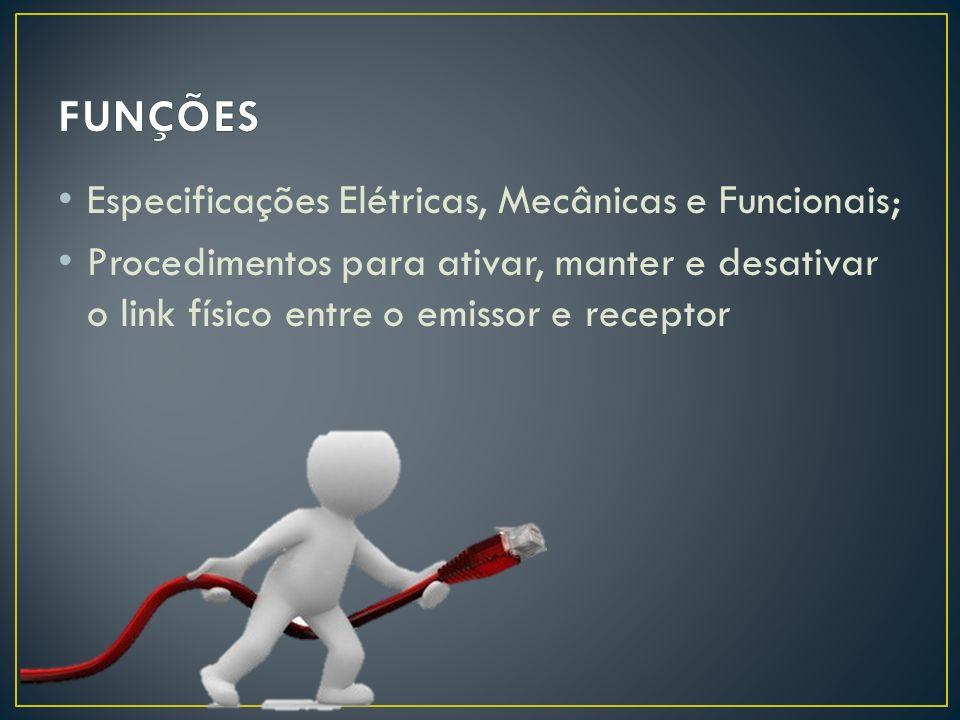 Mecânica: Tamanho e Forma de Conectores, Pinos, Cabos, entre outros.