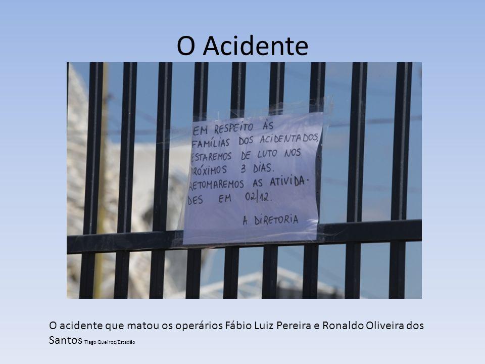 O Acidente O acidente que matou os operários Fábio Luiz Pereira e Ronaldo Oliveira dos Santos Tiago Queiroz/Estadão