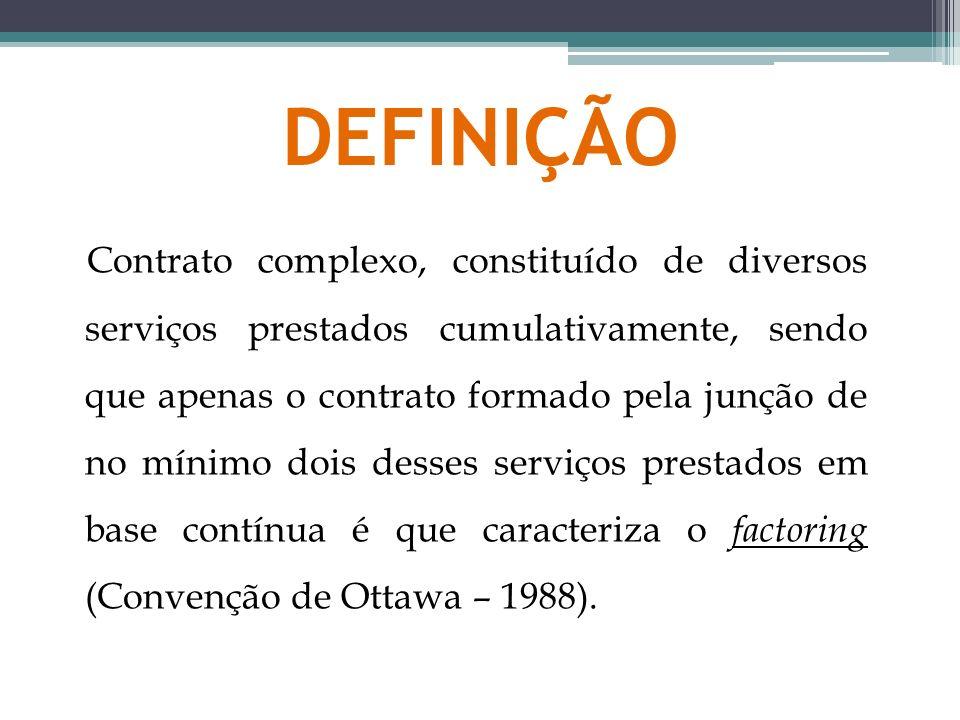 DEFINIÇÃO Contrato complexo, constituído de diversos serviços prestados cumulativamente, sendo que apenas o contrato formado pela junção de no mínimo