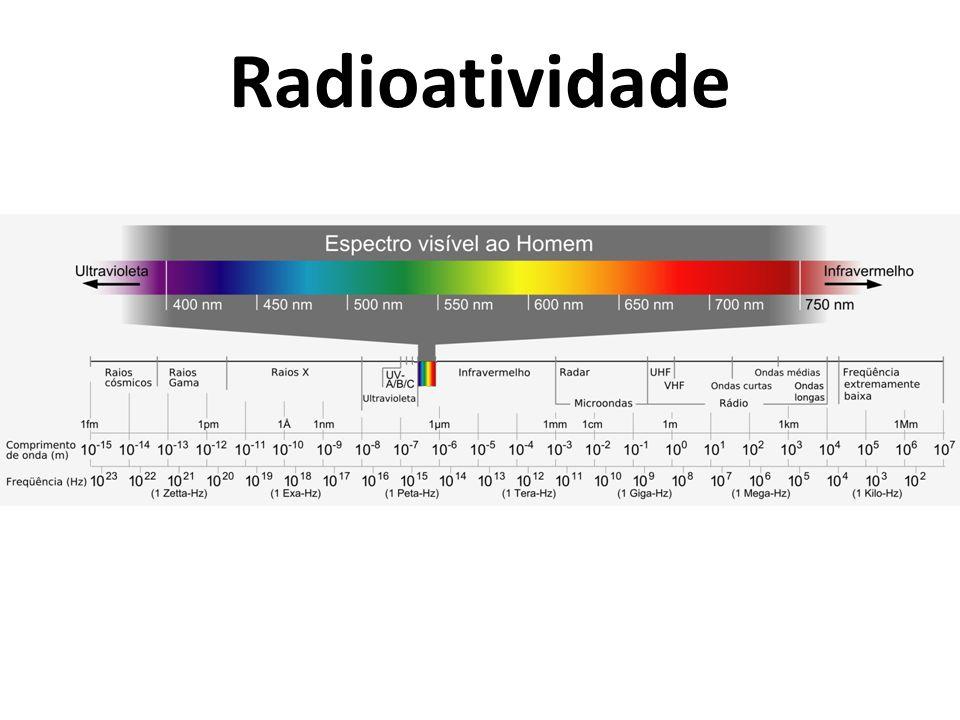 Radioatividade F usão Síntese (união) de núcleos formando um núcleo maior e mais estável, liberando muito mais energia.