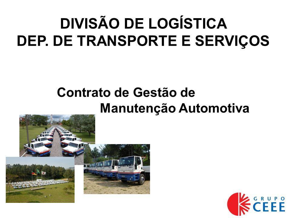 Contrato de Gestão de Manutenção Automotiva DIVISÃO DE LOGÍSTICA DEP. DE TRANSPORTE E SERVIÇOS