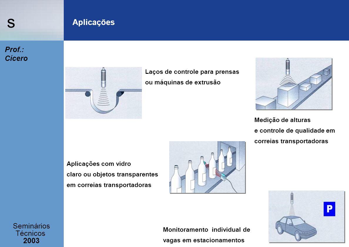 s Seminários Técnicos 2003 Prof.: Cícero Laços de controle para prensas ou máquinas de extrusão Medição de alturas e controle de qualidade em correias