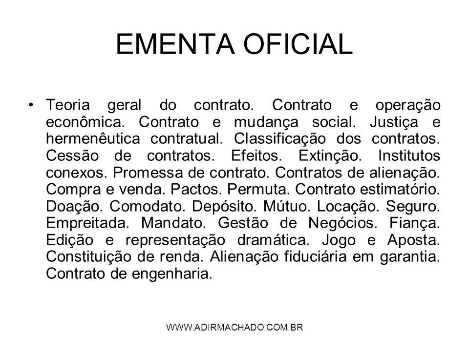 WWW.ADIRMACHADO.COM.BR TEORIA GERAL DO NEGÓCIO JURÍDICO (I.1)- ELEMENTOS CONSTITUTIVOS (essenciais) capacidade do agente ART.