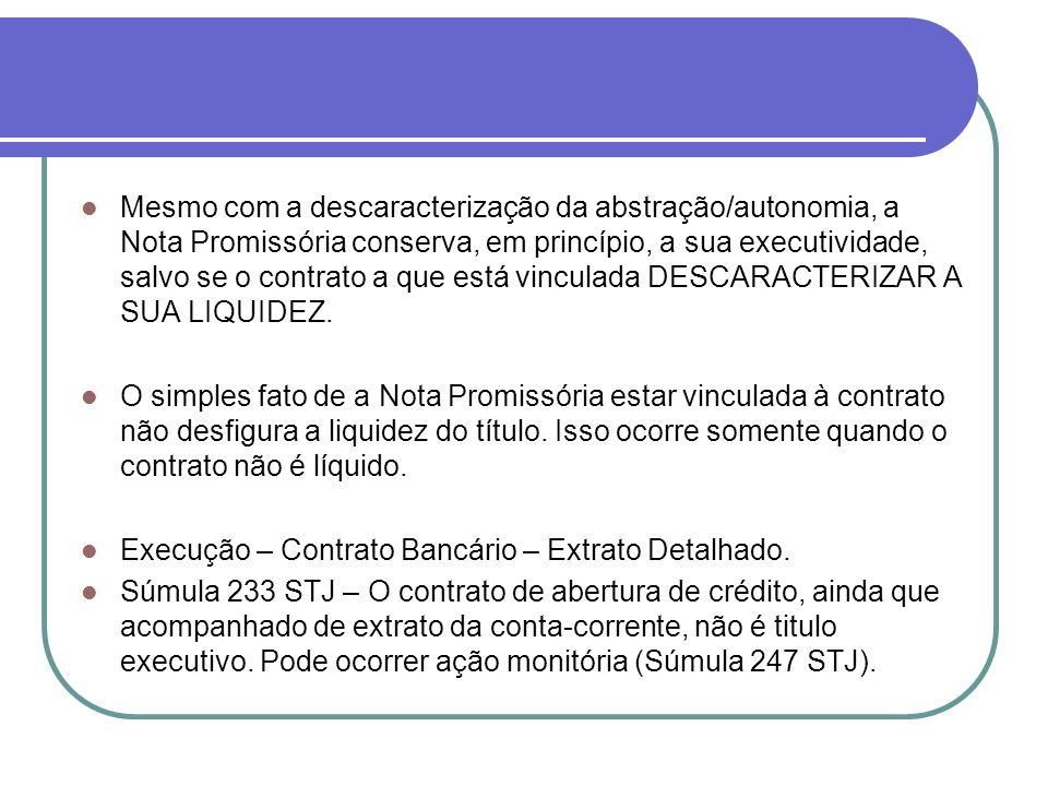 A grande solução para os bancos acabou vindo com a edição da lei 10.931/2004, que criou a CÉDULA DE CRÉDITO BANCÁRIO, título de crédito específico destinado a operacionalizar contratos bancários.