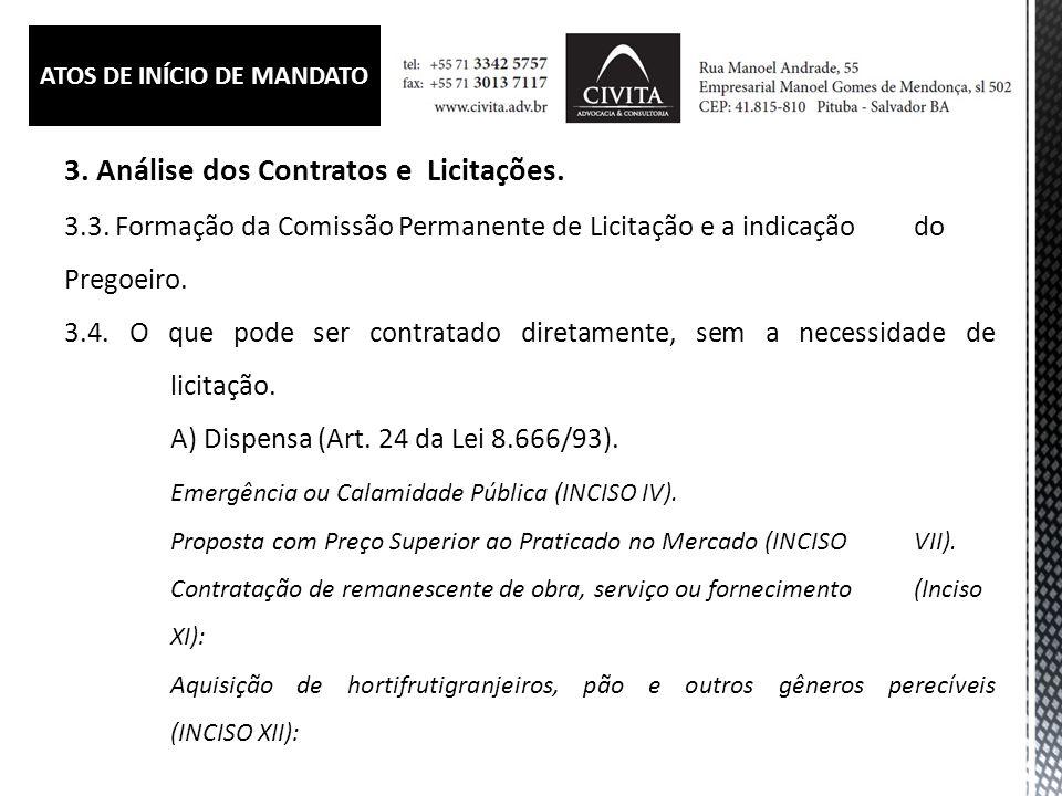 3.Análise dos Contratos e Licitações. 3.4.