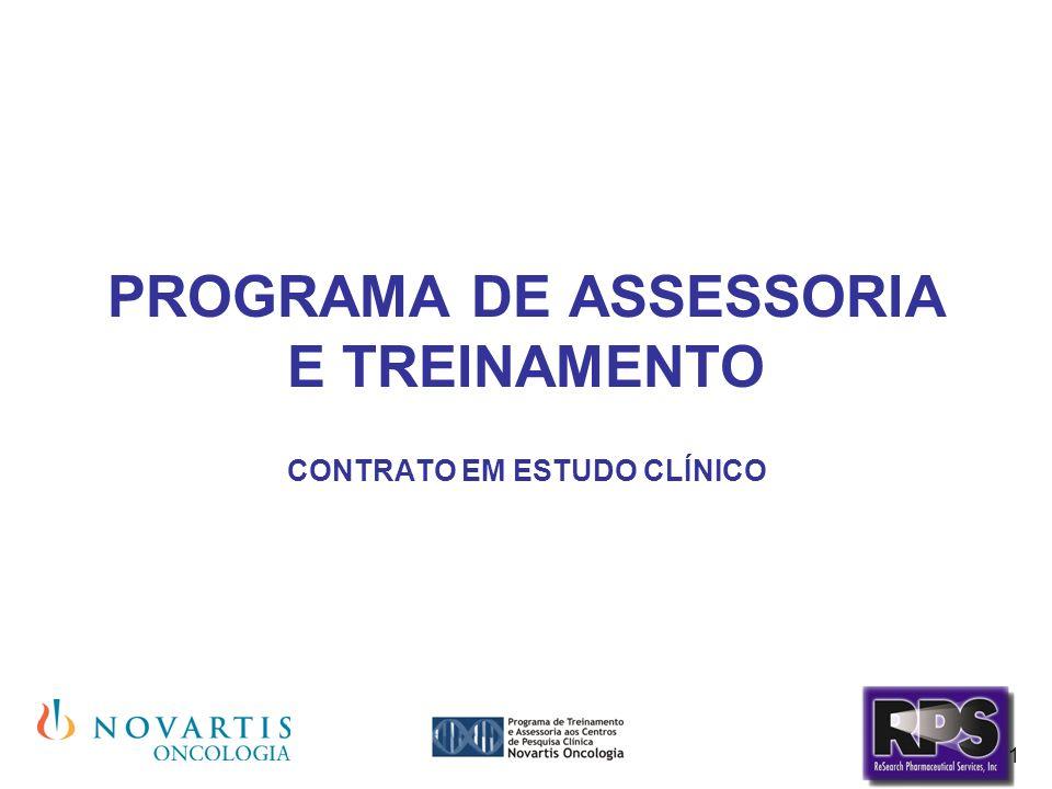 1 PROGRAMA DE ASSESSORIA E TREINAMENTO CONTRATO EM ESTUDO CLÍNICO
