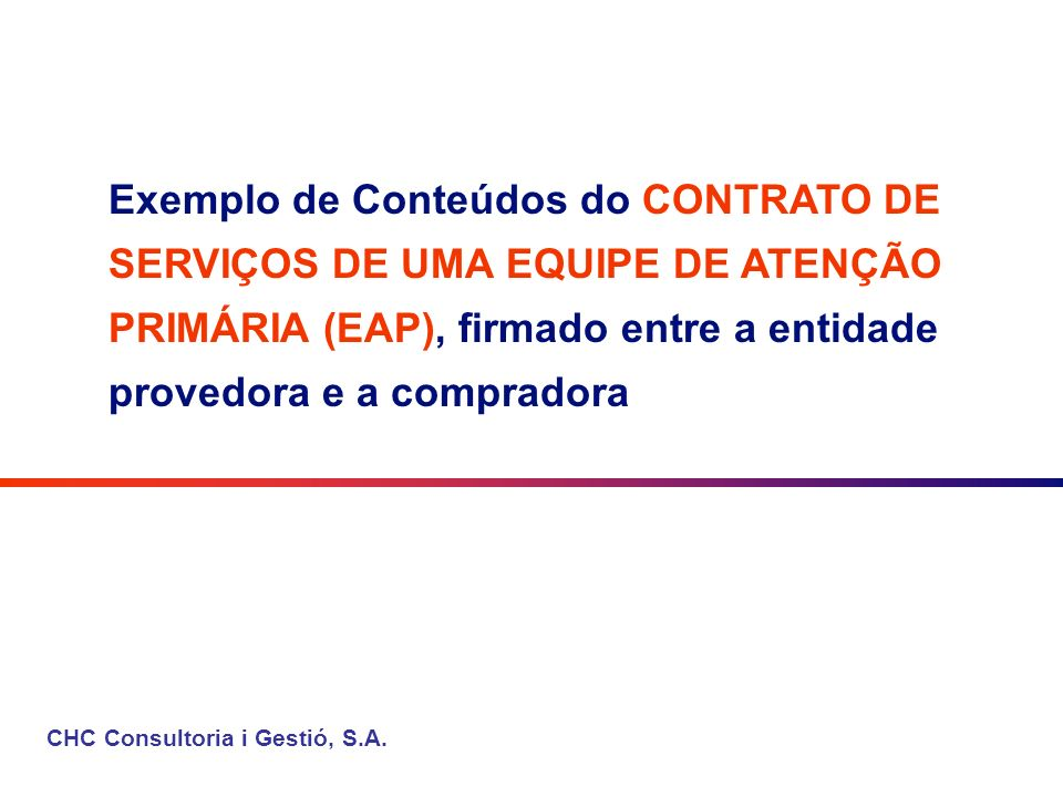 CHC Consultoria i Gestió, S.A.