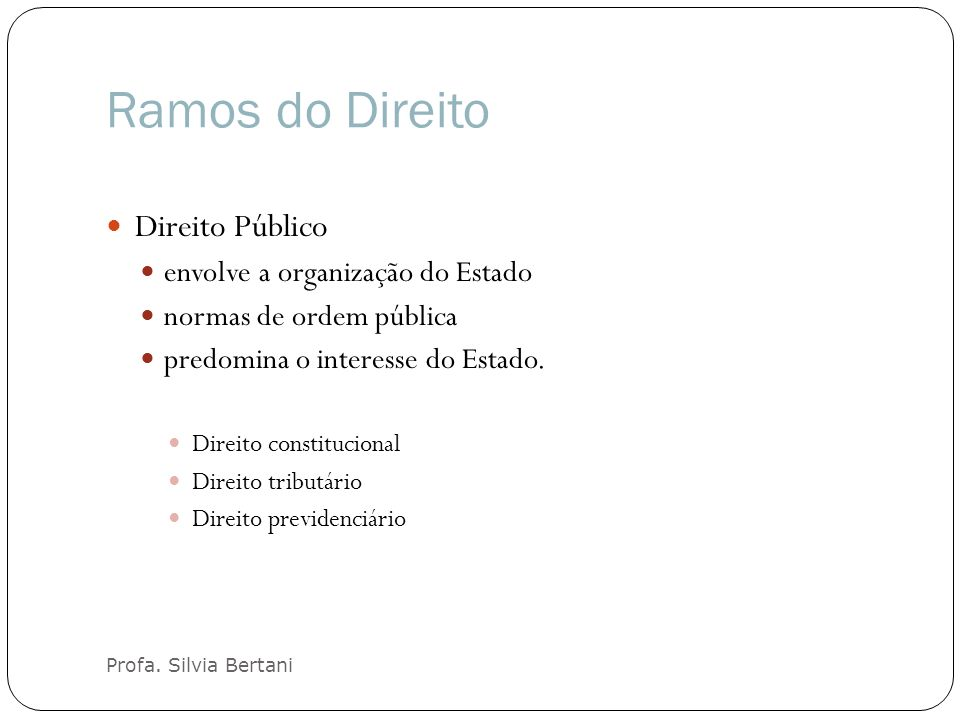Ramos do Direito Profa.