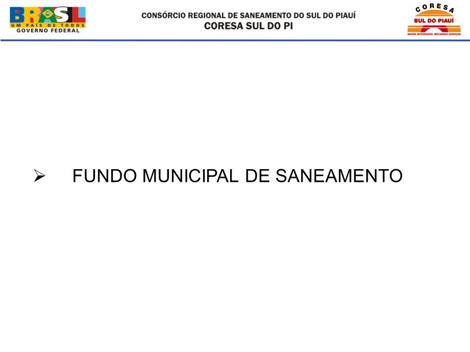 FUNDO MUNICIPAL DE SANEAMENTO