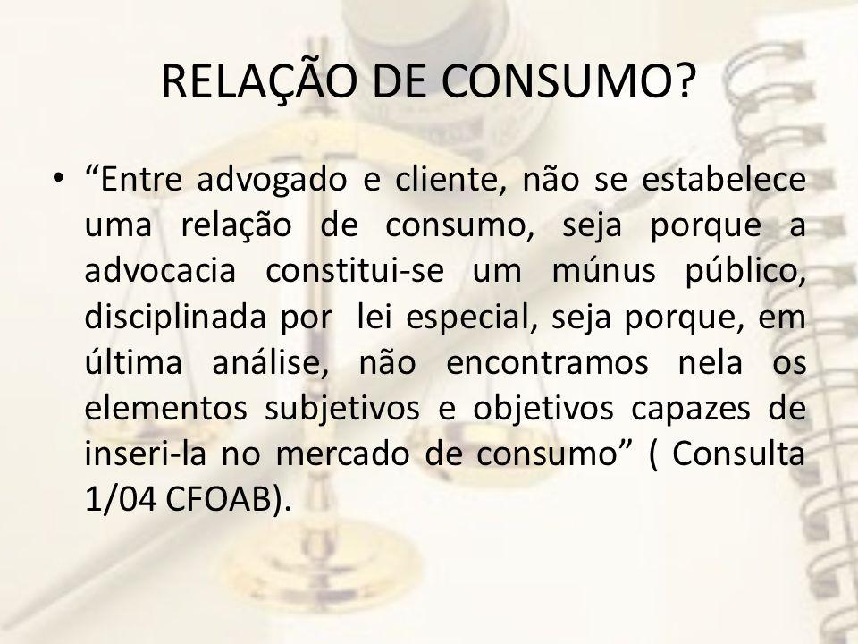 RELAÇÃO DE CONSUMO.
