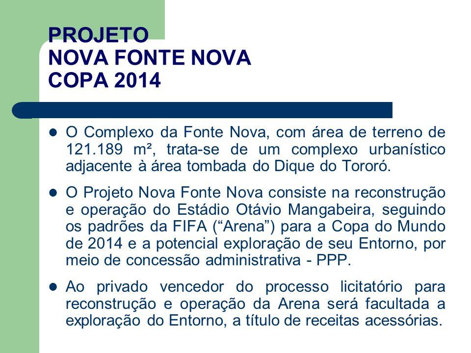 O Complexo da Fonte Nova, com área de terreno de 121.189 m², trata-se de um complexo urbanístico adjacente à área tombada do Dique do Tororó.