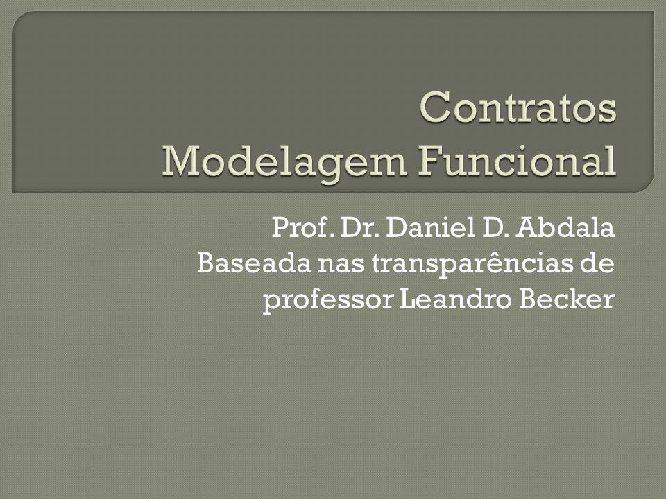 Contratos são a forma de detalhar como as operações e consultas do sistema devem ocorrer; Podem ser descritos de maneira informal (textual) ou de maneira não ambígua (pseudo-código) Utilizam os casos de uso expandidos ou diagramas de seqüência e a modelagem conceitual;