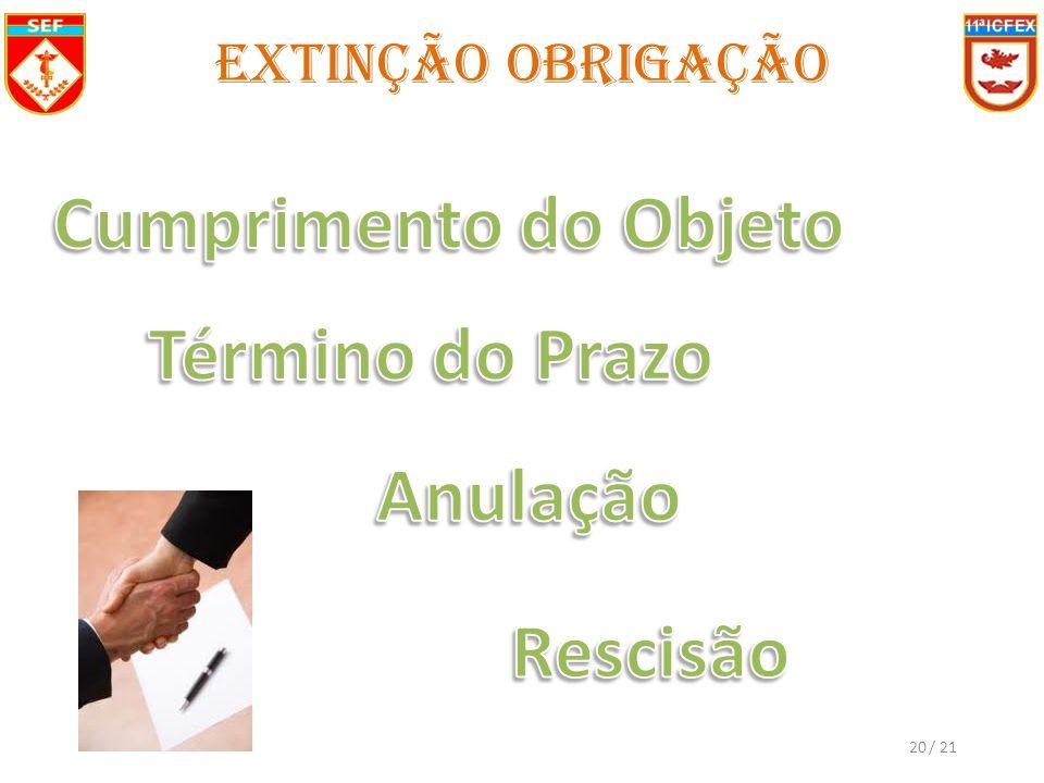 / 2120 Extinção Obrigação