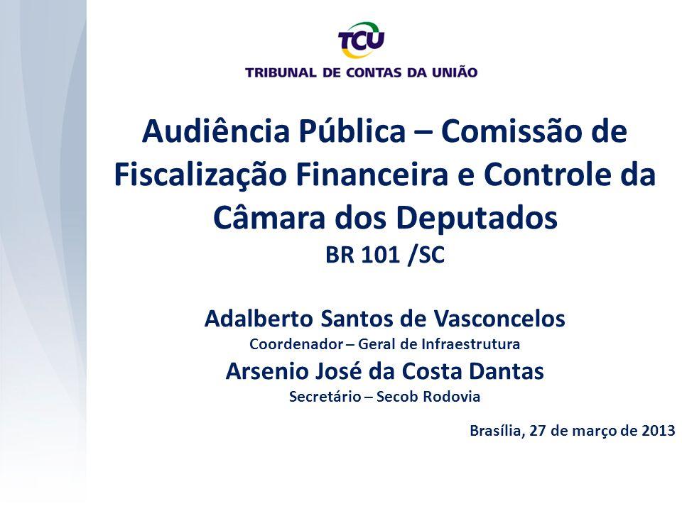 Audiência Pública – Comissão de Fiscalização Financeira e Controle da Câmara dos Deputados BR 101 /SC Adalberto Santos de Vasconcelos Coordenador – Ge