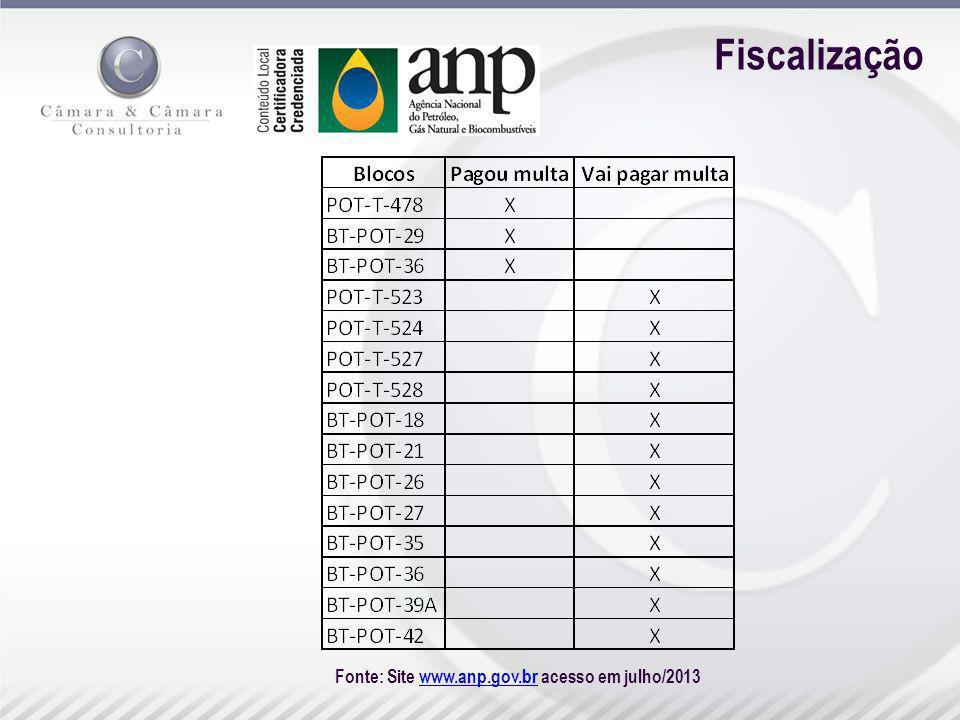 Fiscalização Fonte: Site www.anp.gov.br acesso em julho/2013www.anp.gov.br