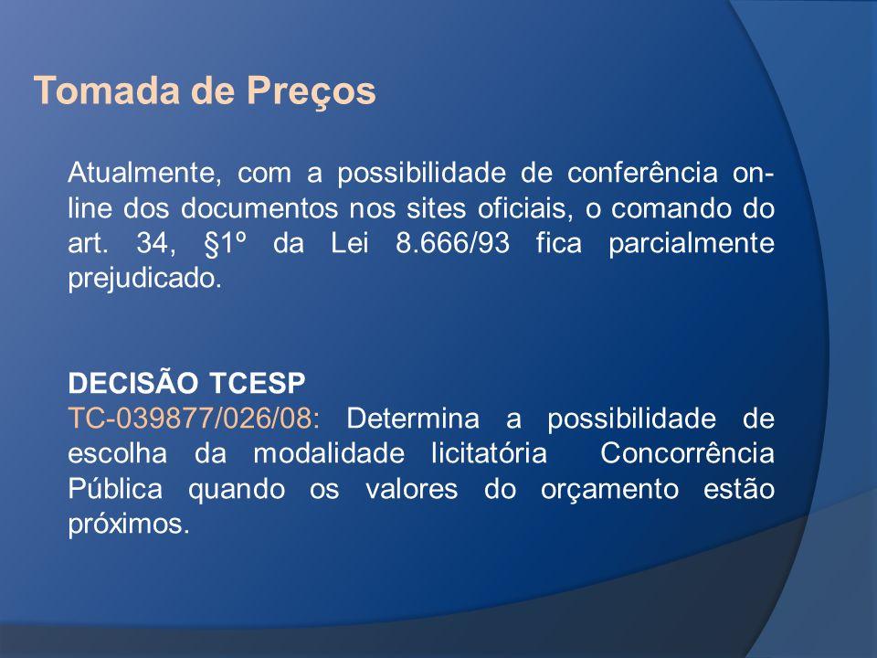 Atualmente, com a possibilidade de conferência on- line dos documentos nos sites oficiais, o comando do art. 34, §1º da Lei 8.666/93 fica parcialmente