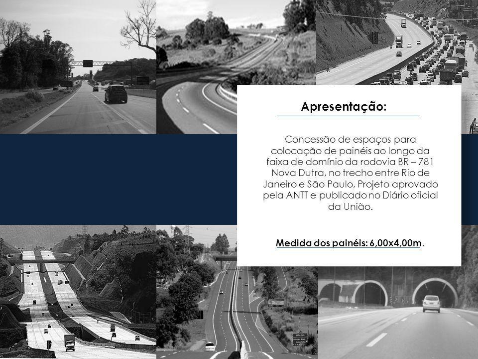 Apresentação: Concessão de espaços para colocação de painéis ao longo da faixa de domínio da rodovia BR – 781 Nova Dutra, no trecho entre Rio de Janei