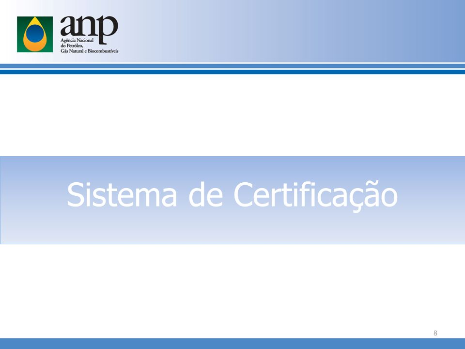 Sistema de Certificação 8