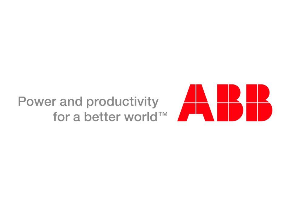 © ABB Group 1º de abril de 2011