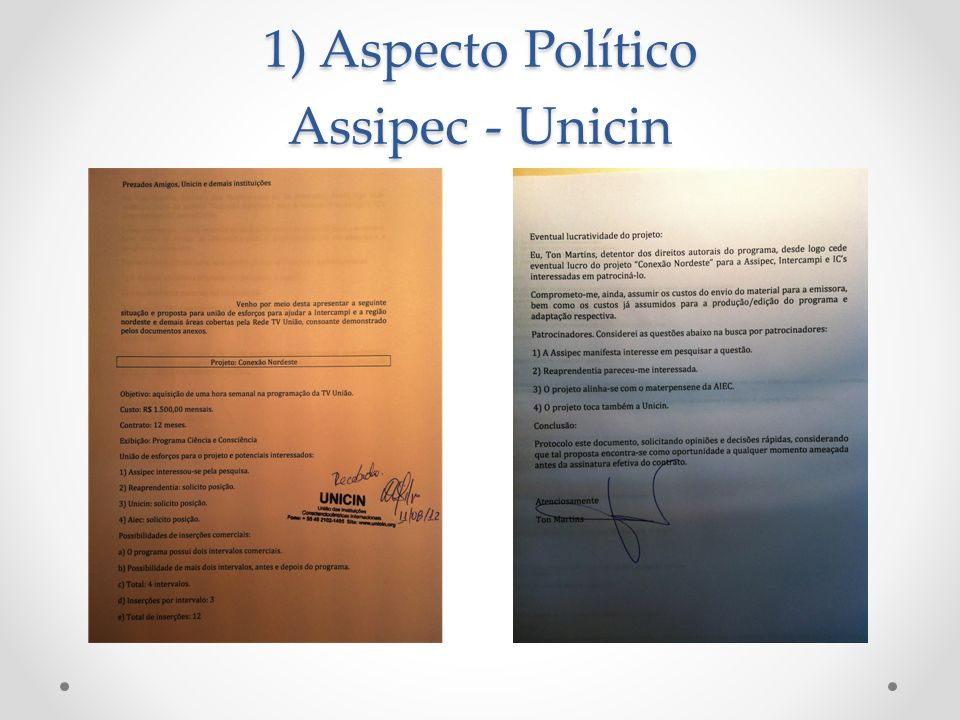 1) Aspecto Político Assipec - Unicin