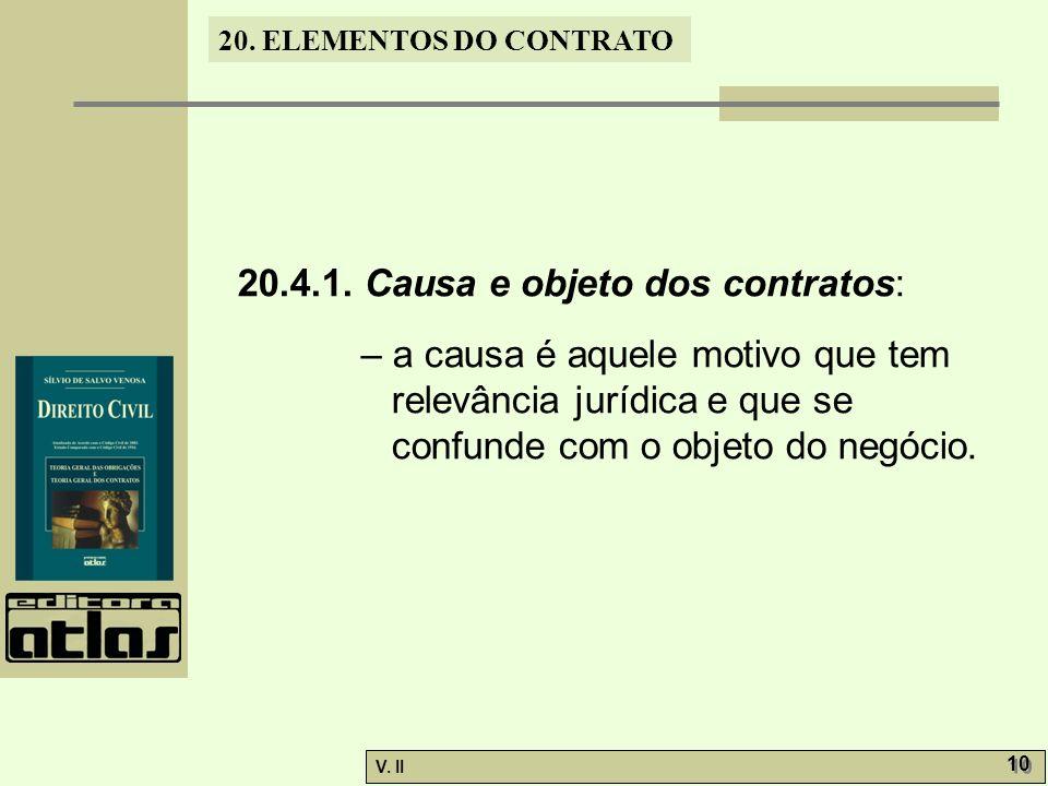 V.II 10 20. ELEMENTOS DO CONTRATO 20.4.1.